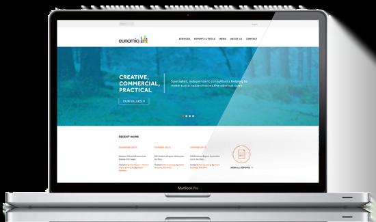 Eunomia website design by Marcom, Bath