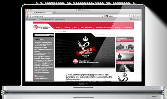 L-3 Communications web design by Mar-Com, Bath